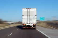Tractor Trailer. Truck on the highway Stock Images