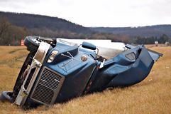 Tractor Trailer Accident Royalty Free Stock Photos