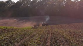 Tractor with trailer stock video footage