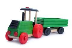 Tractor-trailer di legno Fotografie Stock Libere da Diritti