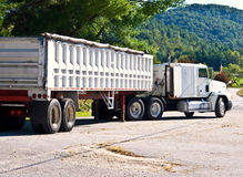Tractor Trailer Dump Truck Royalty Free Stock Photography