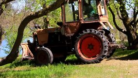 Tractor with a trailer stock footage
