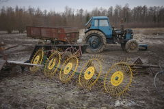 Tractor with trailer Royalty Free Stock Image