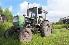 Tractor with trailer stock image