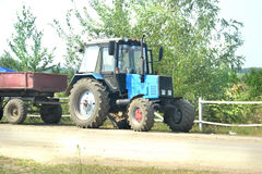 Tractor with trailer Royalty Free Stock Photography
