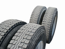 Tractor Trailer Tires. DCF 1.0 royalty free stock image