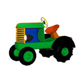 Tractor trailer, toy. Isolated on the white background Royalty Free Stock Image