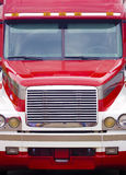Tractor-trailer truck head-on. Eighteen-wheeler coming head-on Royalty Free Stock Images