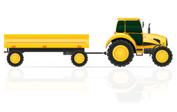 Tractor trailer vector illustration Royalty Free Stock Image