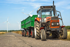 Tractor with trailers Royalty Free Stock Images
