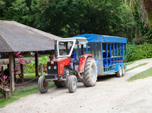 Tractor for transportation of tourists Royalty Free Stock Photography