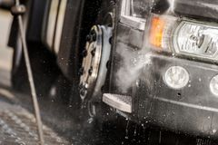 Tractor in the Truck Wash Royalty Free Stock Images
