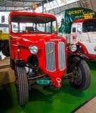 Tractor unit Huerlimann D800 Industrie, 1968. STUTTGART, GERMANY - MARCH 03, 2017: Tractor unit Huerlimann D800 Industrie, 1968. Europe`s greatest classic car stock images