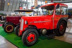 Tractor unit Huerlimann D800 Industrie, 1968. STUTTGART, GERMANY - MARCH 03, 2017: Tractor unit Huerlimann D800 Industrie, 1968. Europe`s greatest classic car royalty free stock photos