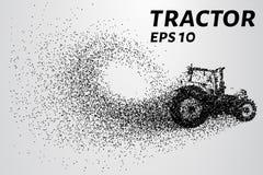 Tractor van de deeltjes De tractor bestaat uit kleine cirkels Vector illustratie royalty-vrije stock afbeeldingen
