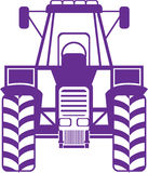 Tractor vector front Royalty Free Stock Images