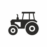 Tractor. Vector icon isolated on white background royalty free illustration