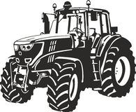 Tractor. Vector illustration of an tractor Royalty Free Stock Photos