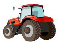 Tractor vector illustration. Isolated vector red tractor illustration Royalty Free Stock Photos