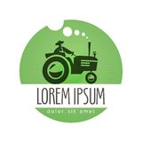 Tractor vector logo design template. farm or Royalty Free Stock Images