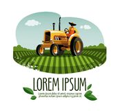 Tractor vector logo design template. harvest or Royalty Free Stock Images