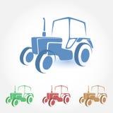 Tractor vectorpictogram royalty-vrije illustratie