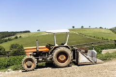 Tractor. Vehicle for agricultural nature Royalty Free Stock Images