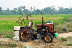 Tractor Vehicle in Farm Royalty Free Stock Photo