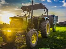 Tractor john deere royalty free stock image