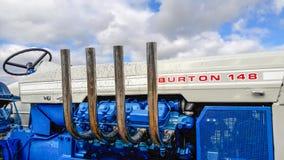 Tractor viejo del burton 148 del vado Foto de archivo libre de regalías