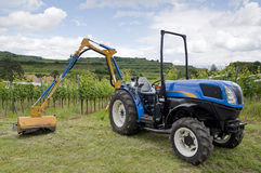 Tractor in the Vineyard Royalty Free Stock Images