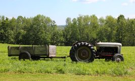 Tractor and wagon royalty free stock photos