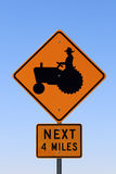 Tractor warning sign Royalty Free Stock Photos