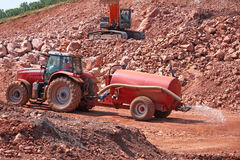 Tractor and Water Bowser Stock Images