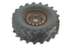 Tractor wheel closeup Royalty Free Stock Photo