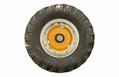 Tractor wheel isolated Stock Photos
