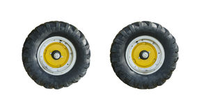 Tractor wheel isolated Stock Image