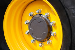 Tractor wheel and tire Royalty Free Stock Photos