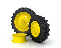 Tractor wheel Stock Photos