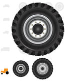 Tractor wheels Stock Photo