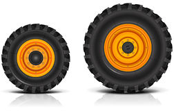Tractor wheels Royalty Free Stock Images