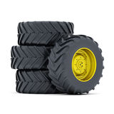 Tractor wheels Stock Image
