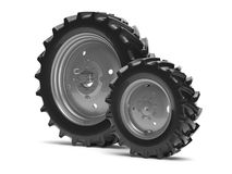 Tractor wheels Stock Photos