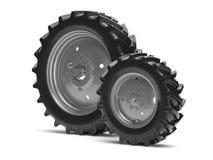 Tractor wheels Stock Photos