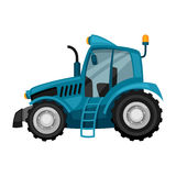 Tractor on white background. Abstract illustration of agricultural machinery Stock Images