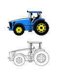 Tractor on a white background Stock Image