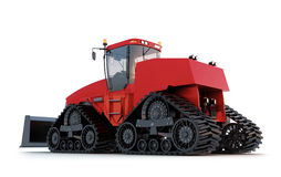 Tractor.  on white backgroung. Heavy Tractor.  on white backgroung Royalty Free Stock Images
