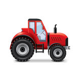 Tractor  on white vector Royalty Free Stock Photo