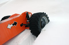 Tractor winter tyres Royalty Free Stock Images