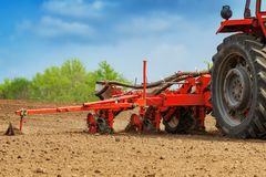 Free Tractor With Mounted Crop Seeder Stock Photo - 161151440